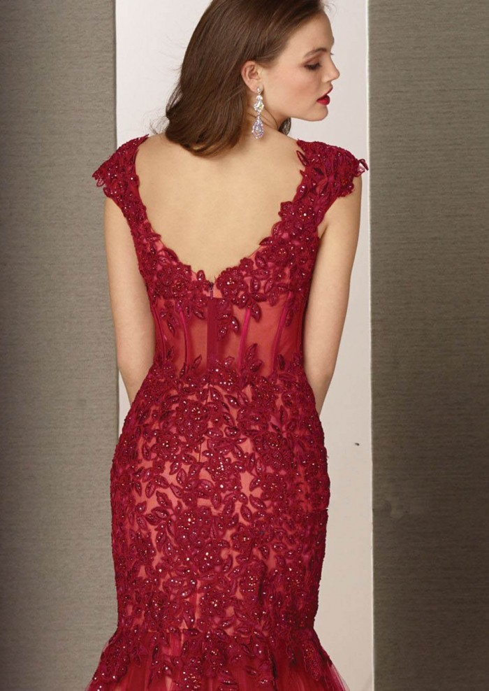 Sexy Backless Long Evening Dresses 2016 With Appliques Beading Formal Evening Gowns To Party Vestido De Festa Robe De Soriee
