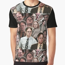 e54f244d All Over Print Women T Shirt Men Funny tshirt Dwight Schrute - The Office  Graphic T