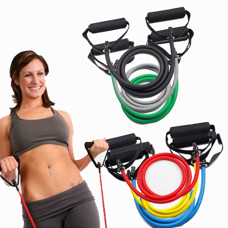 Sahni Sports Resistance Exercise Bands Light Orted Colors