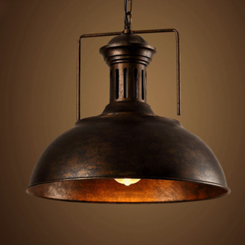 Edison vintage industrial lamp shade chain pendant light for Bar fixtures