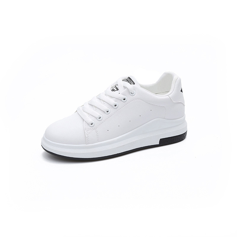 Women Casual Shoes Fashion Comfortable Lace-Up Sneakers All-Match Flat Board Shoes