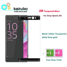 3D Curved Edge Colorful Full Cover Screen Protector For Sony Xperia XA F3111 Tempered Glass For Sony Xperia XA F3111 F3113 F3115 ainy защитное стекло 0 33мм sony xperia xa full screen cover черное
