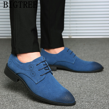 Italian Fashion Suede Shoes Men Formal New Arrival 2020 Mens Dress Shoes Mens Wedding Shoes Chaussure Homme Cuir De Luxe Bona Leather Bag