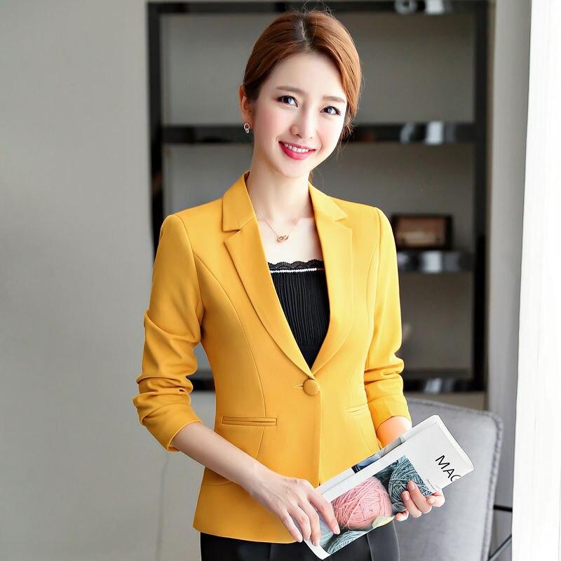 Dushicolorful Woman Blazer 2019 Formal Jackets Coat Campera Mujer Office Ladies Elegant Work Wear Blaser Black Tops Plus Size