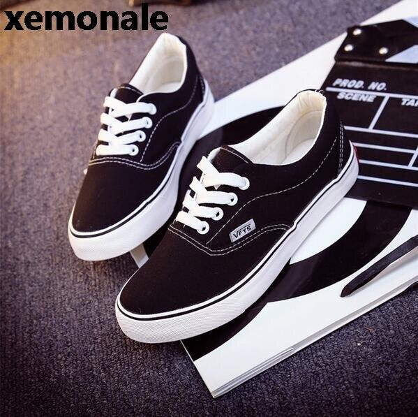 eadcfd64e Mulheres moda Casual Shoes Skate Sapatos de Lona Feminino Plana Cesta Preto  Formadores Tenis Feminino TAMANHO 35 43 em Vulcanize Sapatos Das Mulheres  de ...