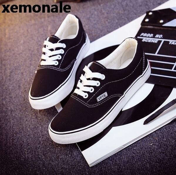 0b4915d9531 Mulheres moda Casual Shoes Skate Sapatos de Lona Feminino Plana Cesta Preto  Formadores Tenis Feminino TAMANHO
