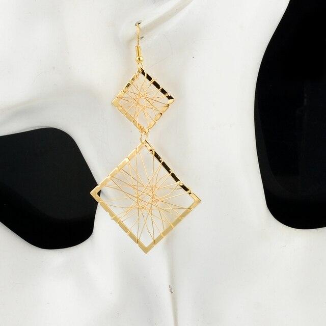 Женские серьги toucheart Винтажные золотого цвета с двойными
