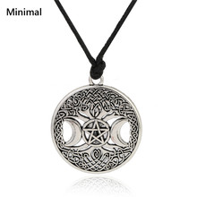 Tree of Life Golden/Sliver Norse Vikings Pendant Necklace Celttic knot Pentagram Pentacle Star Moon Wicca Pendant Necklace