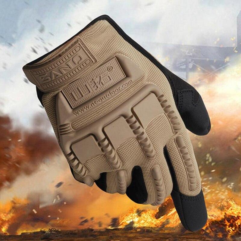 FuLang Cycling font b Gloves b font colloidal particles silica gel full Finger anti skidding elasticity