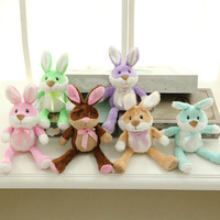 New Coming 20cm 6 Colors colorful Rabbit Plush Toys Cloth doll Pillow Cushion kids doll Christmas present Kids Birthday Gift