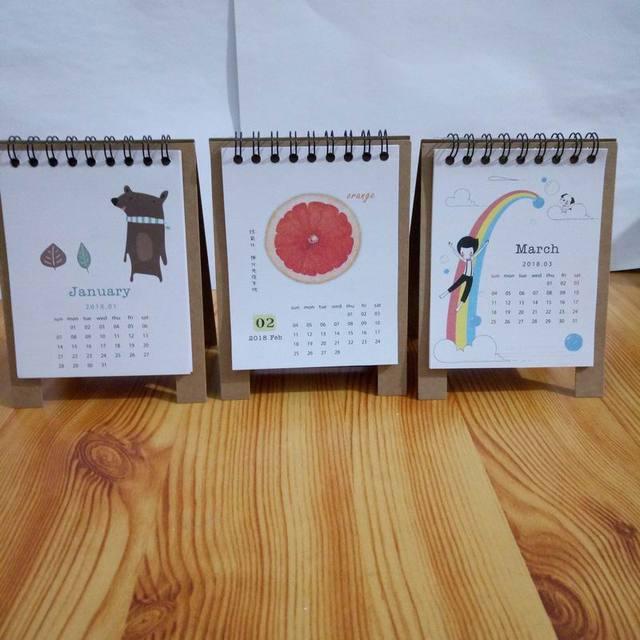 100 Pcs New Arrived 2018 Year Fresh Style Diy Mini Desktop Paper Calendar Notepad Table Planner