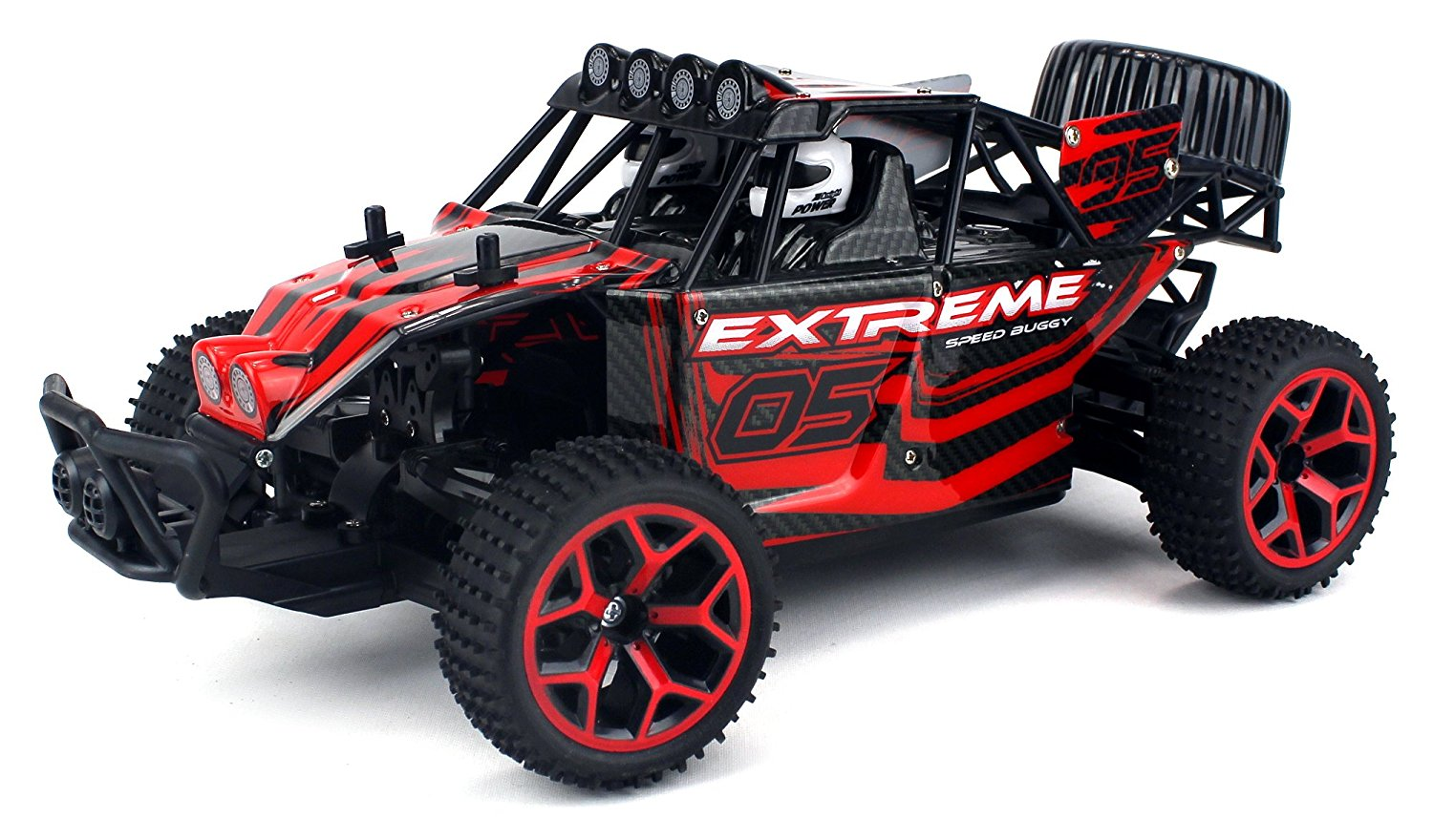 EBOYU(TM) High Speed Remote Control RC Truggy Truck Buggy 1:18 Scale 4 Wheel Drive 4WD Rechargeable w/ Working Front Suspension