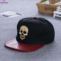 [AngelBola] Women Hat Flat Hells Cranial Skeleton Head Fluorescent Color Printing Hip Hop Shade Cap Baseball Hat C-026