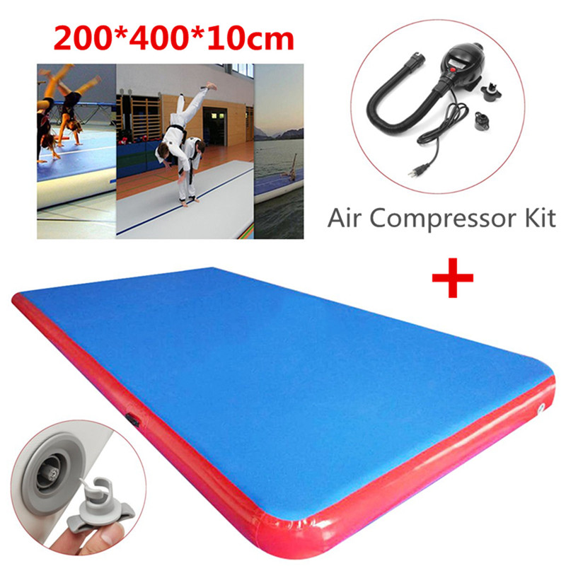 High Quality 4x2x0.1m Inflatable Air Track Tumbling Gymnastics Training Pad GYM Mat Taekwondo Air Cushion Martial Arts Track free shipping top quality inflatable air track tumbling gymnastics mat 8 2m