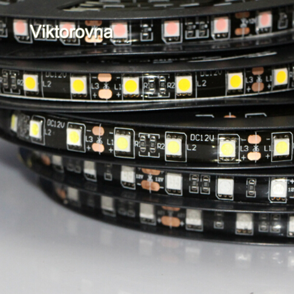 LED Strip Light 5050 SMD RGB Led Tape non/ip65 waterproof Led Stripe Bar lamp String holiday car Lights 60leds/m DC12V DRL white 10pcs lot a2430 hcpl 2430 sop 8 optical coupler oc optocoupler