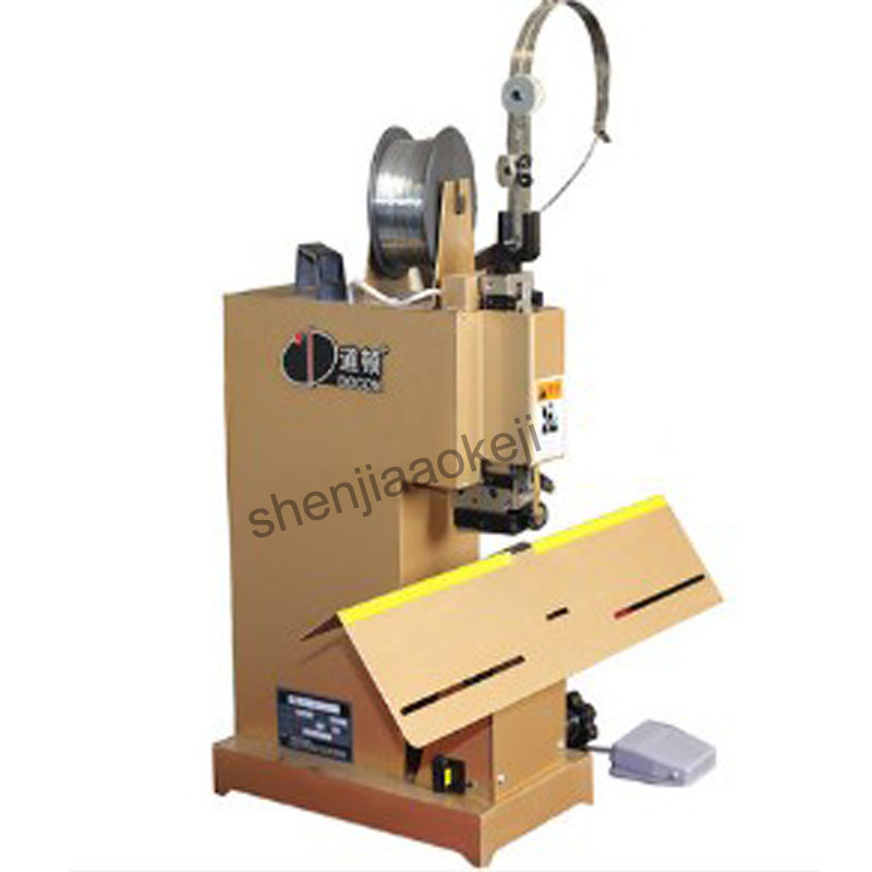 Один глава электрический степлер Железная проволока машинной вязки DC 103 плоским ногтей/седло ногтей швейная машина Электрический машинной