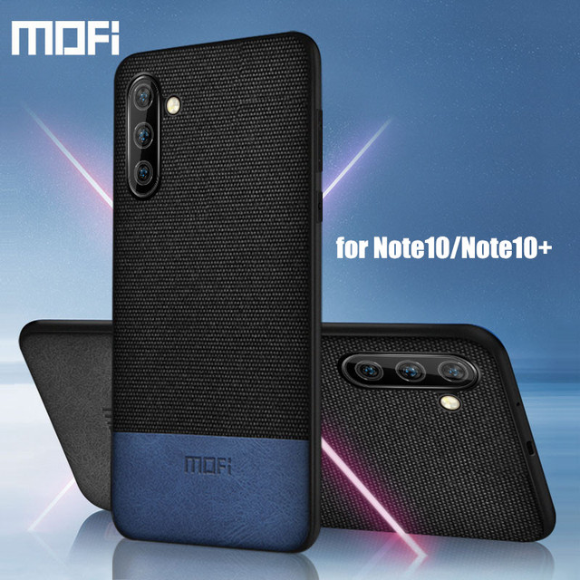 MOFi Samsung Note 10 Plus Luxury Shockproof Fabric Back Case Cover