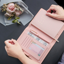 Lovely New Colored Travelers Diary, cuadernos A6 Wrinting Pads, regalos de papelería de cumpleaños para niñas planificador de negocios de oficina