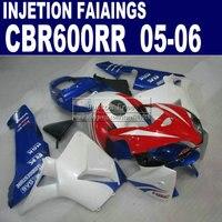 7gifts+Cowl injection molding set for Honda white blue red 2005 2006 CBR600RR fairing 600RR CBR 600 RR 05 06 fairings parts