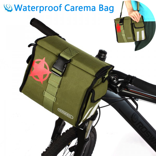 Roswheel Waterproof Bicycle Handlebar Camera Bag Cycling Basket Bike Pannier Accessories Bags For Water Repellent