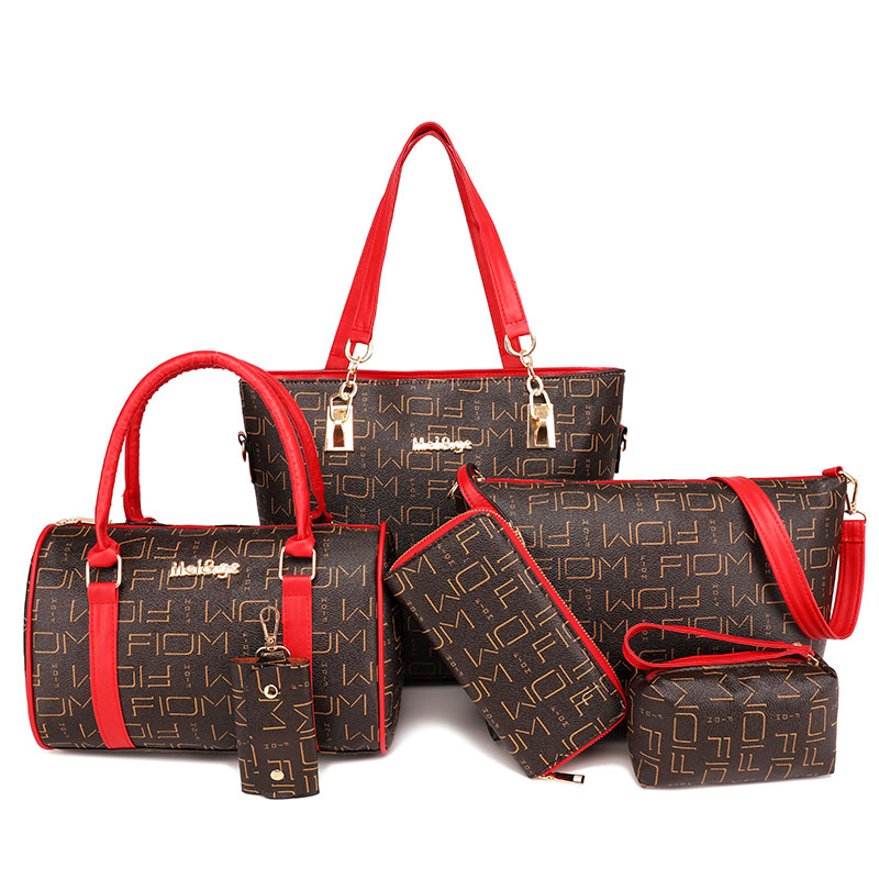 6 en 1 mode femmes Sac à main ensemble femme PU cuir Composite sacs de haute qualité pratique femmes sacs Sac a main Bolsa Femina 2018