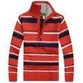Завод Прямых продаж! новое прибытие осень и зима мужская вязать свитер мужчин тонкий Британский стиль полосатый свитера бесплатная доставка