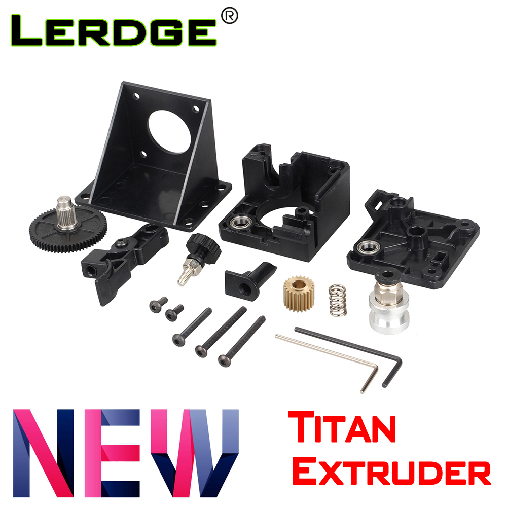LERDGE 3D Printer Parts Titan Extruder For E3d V6 Bowden J-head Mounting Bracket 1.75mm Filament V6 Hotend Fully Kits Acessories