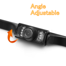 Waterproof 7 LED Night Vision Car Reverse Parking Camera Wide Adjustable Angle Auto Rear View Vehicle Backup Cameras
