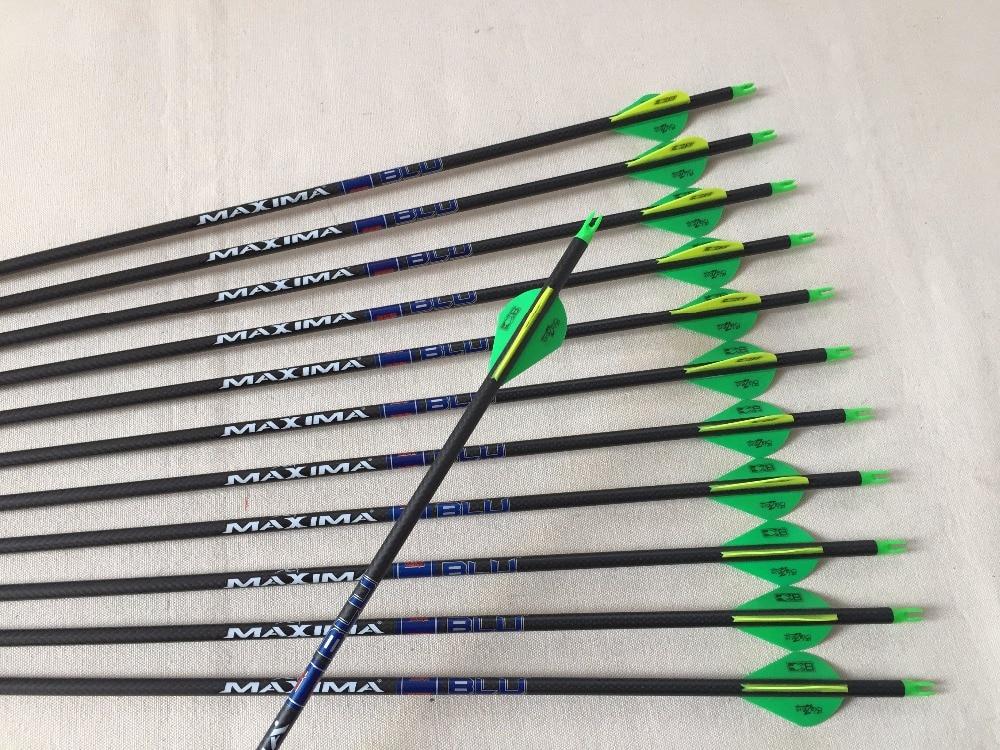 12pcs spine340 pure carbon arrow 3K weave arrow nock 100grain arrowhead arrow insert for compound bow hunting red arrow arrow yh 170 220v arrow spray gun kf350