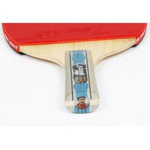 Image 5 - DHS 6002 טניס שולחן מחבט עם כיסוי טניס גומי מקצועי אימון פינג פונג מחבטי ההנעה חג המולד מתנה