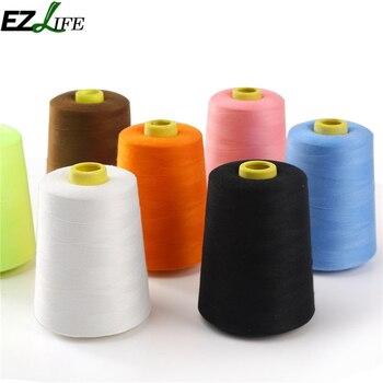 Hilo De coser De poliéster, nuevo blanco y negro, bordes Para máquina De coser
