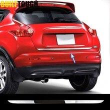 Schwanz Tor Abdeckung Trim FÜR Nissan JUKE 2011-2019 Chrome Hinten Stamm Tür Rand Molding Heckklappe Streifen Garnieren Styling 2014 2015 2016