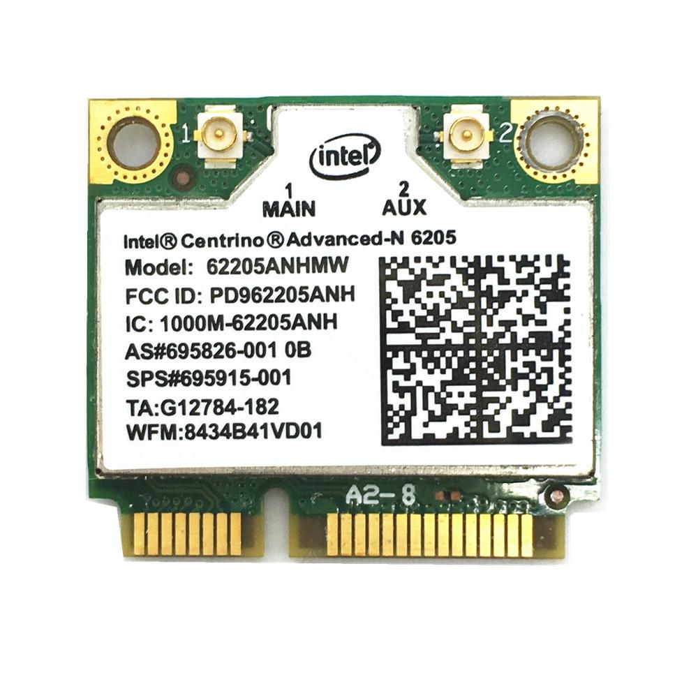 For 6205 Intel 62205ANHMW 802.11a/b/g/n 2.4G/5.0Ghz Wireless Mini PCI-E Card For EliteBook 8470p 8770W SPS 695915-001