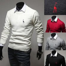 2014 New Spring Brand Giraffe Embroidery Fashion Cardigan Mens Sweaters Slim fit Casual Outerwear Man Clothing M-XXL