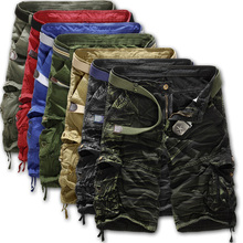 Summer 2015 mens tools shorts camouflage multi-pocket military short outdoor cotton leisure men overalls loose cargo shorts