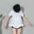 [Soonyour] 2017 dulce de moda de verano nueva manga corta de encaje de algodón blanco camiseta mujer y02300