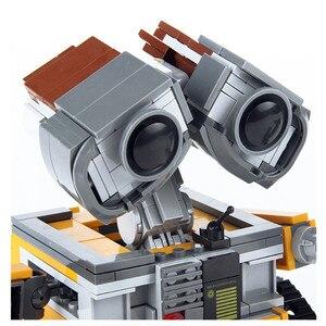 Image 2 - 21303 строительные блоки WALL E Robot, игрушка 687 шт., модель робота, строительные блоки, игрушки, детские совместимые идеи, игрушки WALL E