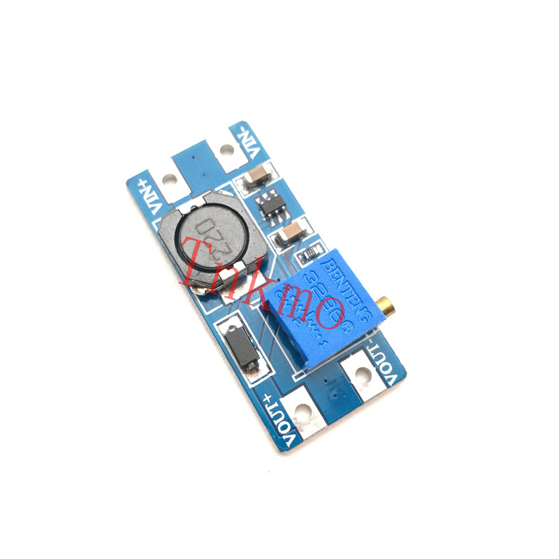 5PCS MT3608 2A Max DC-DC Step Up Power Module Booster Power Module Micro USB 2-24V To 28V Adjustable Booster For Arduino 5pcs dc dc step up converter booster dc dc power supply module adapter output 2a 28v for arduino step up power board mt3608