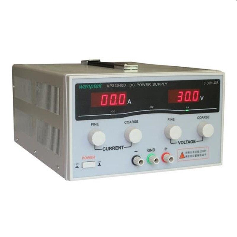220 V KPS3040D Haute Puissance de Commutation D'alimentation 30 V/40A Réglable Alimentation 1200 W Réglable LED Double affichage