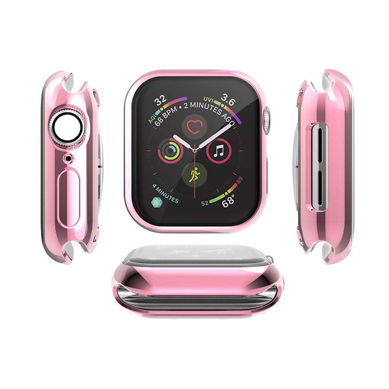 Case Apple-Watch 4-Screen Transparent for Soft-Tpu All-Inclusive Ultra-Thin HD 40MM