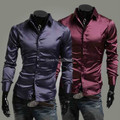 Free shipping boom of foreign trade products shiny leisure men's cultivate one's morality leisure long-sleeved shirts
