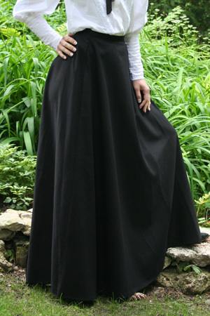 Fashion Microfiber Floor-Length <font><b>Ball</b></font> Gown Shipping Long Victorian <font><b>Skirts</b></font> Twill Fan <font><b>Skirt</b></font> image