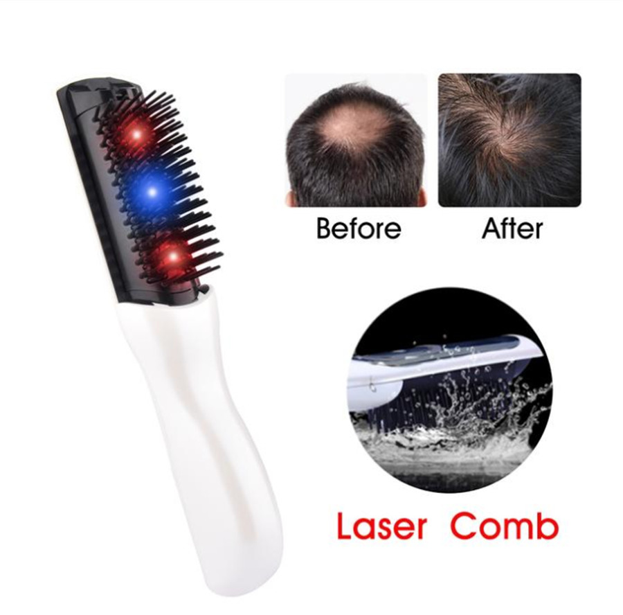 Electric Laser Anti Loss Comb Hair Re-Growth Infrared Vibration Massage Therapy Hairbrush Physiotherapy Comb Head Scalp Massager electric laser red light hair nourishing growth comb vibrating head massager hairbrush anti hair loss hair growth treatment