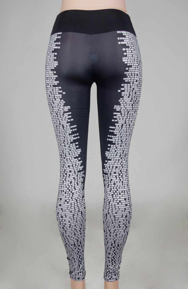 6050ae4da1c8ea ... Sexy Square Grids Printed Skin Tight Sports Yoga Pants Women Running  Leggings Trousers Female Gym Running ...