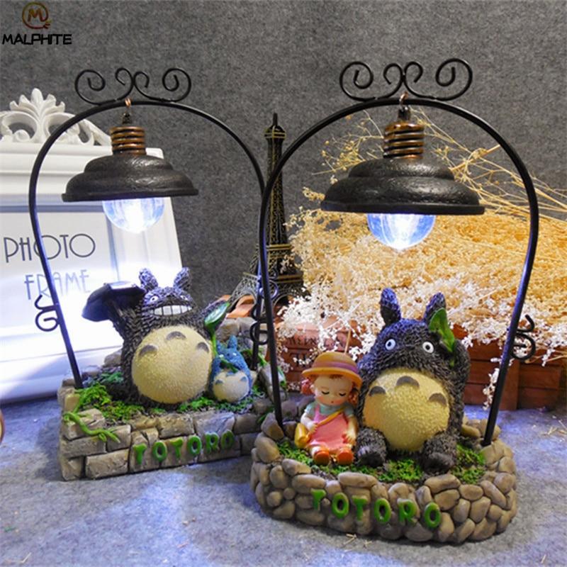 Japanese Cartoon Resin Totoro Night Lights Art Decor Cute LED Totoro Lamp For Gift Home Decor Lighting Fixtures
