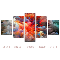 HDARTISAN Canvas Art Landscape Painting Abstract Colorful Clouds Combination Home Decoration Wall Pictures For Living Room