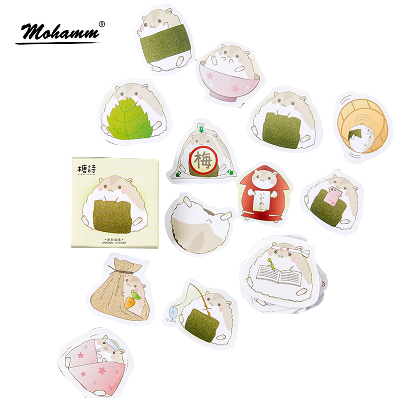 45pcs/lot Cute Hamster Mini Paper Sticker Decoration Diy Ablum Diary Scrapbooking Seal Stickers Kawaii Stationery School Supply 45pcs box cute animal crystal ball mini paper decoration stickers diy diary scrapbooking seal sticker stationery school supplies