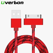 2.4A USB Cable for iPhone 4 4s 3GS 3G iPad 1 2 3 iPod Nano itouch 30Pin Fast Charging Charger Adapter Data Sync Code Phone Cable
