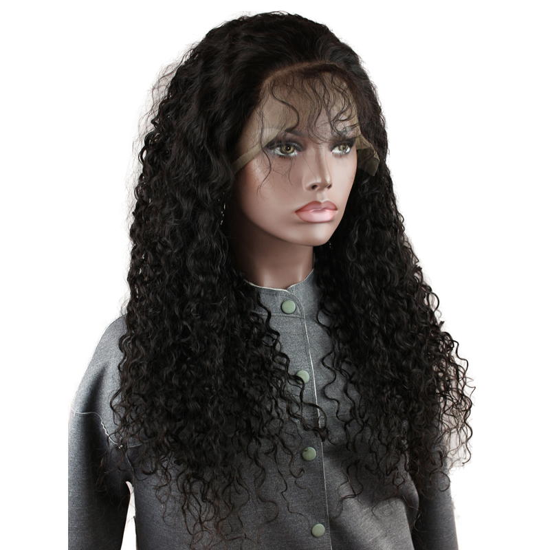 Eseewigs Deep Curly 150 Density Human Hair Full Lace Wigs With Baby Hair Pre Plucked Brazilian Remy Human Hair Wigs Bleach Knots