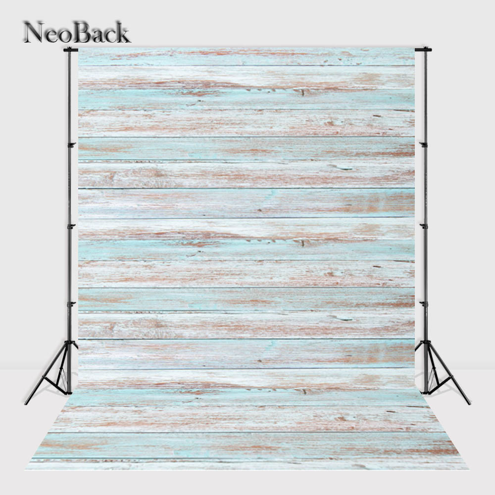NeoBack 5x7ft Vinyl Cloth Printed Wood Wall Floor Photography Backgrounds Photo Studio Backdrop Children Photo Background
